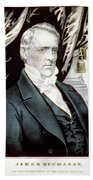 James Buchanan, 15th American President Beach Towel