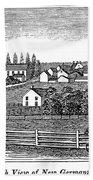 New Jersey, 1844 Beach Towel
