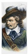 Oliver Cromwell (1599-1658) Beach Towel