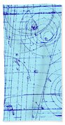 Omega-minus Particle, First Observation Beach Towel