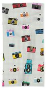 Retro Camera Pattern Beach Towel