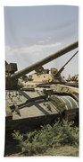 Russian T-54 And T-55 Main Battle Tanks Beach Towel