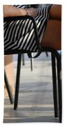 Stripped Dress Beach Towel