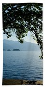 Sunshine Over An Alpine Lake Beach Towel