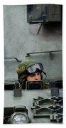 Tank Driver Of A Leopard 1a5 Mbt Beach Sheet