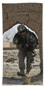 U.s. Army Soldier Provides Security Beach Towel