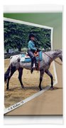4h Horse Competition Beach Towel