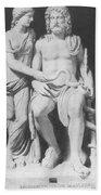 Aesculapius, Greek God Of Medicine Beach Towel