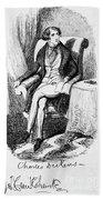 Charles Dickens, English Author Beach Towel