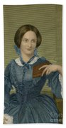 Charlotte Bronte, English Author Beach Towel by Photo Researchers