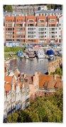 City Of Gdansk In Poland Beach Towel