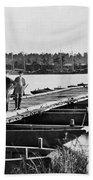 Civil War: Pontoon Bridge Beach Towel