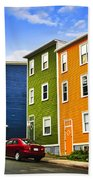 Colorful Houses In St. John's Newfoundland Beach Towel