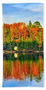Fall Forest Reflections Beach Towel