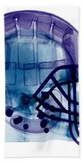 Football Helmet, X-ray Beach Towel