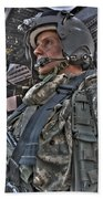 Hdr Image Of A Pilot Sitting Beach Towel