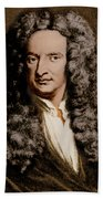 Isaac Newton, English Polymath Beach Sheet