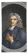 John Flamsteed, English Astronomer Beach Towel