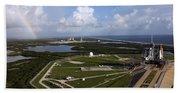 Space Shuttle Atlantis And Endeavour Beach Sheet