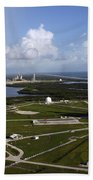 Space Shuttle Atlantis And Endeavour Beach Towel