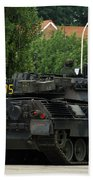 The Leopard 1a5 Mbt Of The Belgian Army Beach Towel