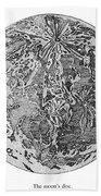 Verne: Earth To Moon Beach Towel