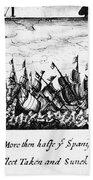 Spanish Armada, 1588 Beach Towel