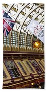 Leadenhall Market London Beach Towel