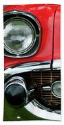 57 Chevy Right Front 8561 Beach Towel