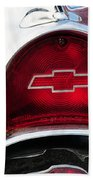 57 Chevy Tail Light Beach Towel
