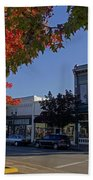 5th And G Street In Grants Pass With Text Beach Towel