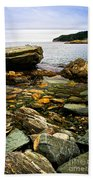 Atlantic Coast In Newfoundland Beach Towel by Elena Elisseeva