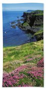 Dunluce Castle, Co Antrim, Ireland Beach Towel