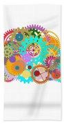 Gears Wheels Design  Beach Towel by Setsiri Silapasuwanchai
