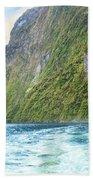 Milford Sound Beach Towel