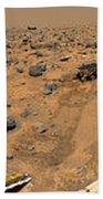 Panoramic View Of Mars Beach Towel