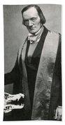 Richard Owen, English Paleontologist Beach Towel by Science Source