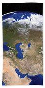 The Blue Marble Next Generation Earth Beach Towel by Stocktrek Images