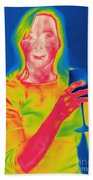Thermogram Of A Woman Beach Towel