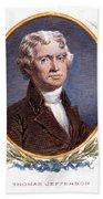 Thomas Jefferson (1743-1826): Beach Towel