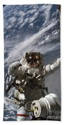 Astronaut Participates Beach Towel by Stocktrek Images