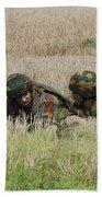 Belgian Paratroopers On Guard Beach Towel