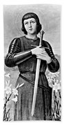 Joan Of Arc, French National Heroine Beach Towel