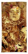 Winsome Woman Beach Towel