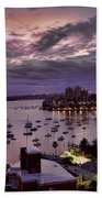 7th Floor View Macleay Street Potts Point Sydney Early Morning Beach Towel