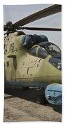 An Mi-35 Attack Helicopter At Kunduz Beach Towel