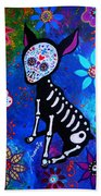 Chihuahua Day Of The Dead Beach Sheet