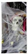 Fall  Halloween On Tillson Street Beach Towel