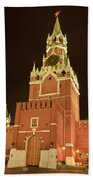 Red Square In Moscow At Night Beach Towel