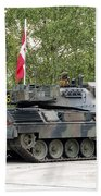 The Leopard 1a5 Of The Belgian Army Beach Towel by Luc De Jaeger